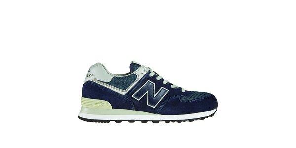 Pánská tmavě modrá sportovní obuv New Balance s bílými detaily