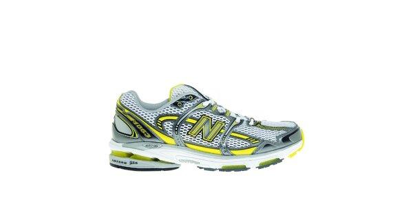 Pánské šedo-žluté běžecké boty New Balance