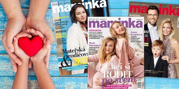 Roční předplatné lifestylového časopisu Maminka