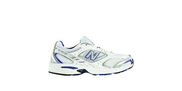 Pánská bílá sportovní obuv New Balance s modrými detaily