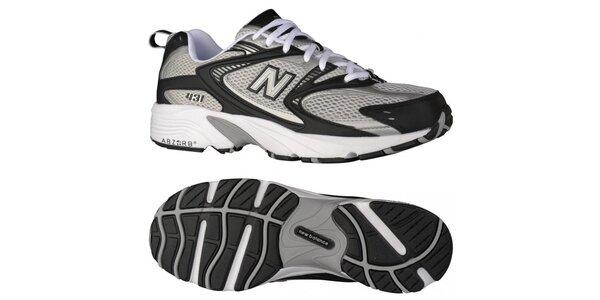Pánská šedo-černé běžecké boty New Balance