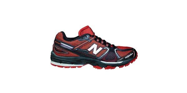 Pánská červeno-černá sportovní obuv New Balance
