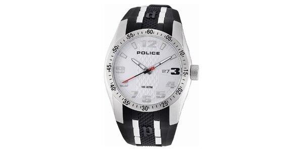 Pánské analogové hodinky s bílým ciferníkem Police