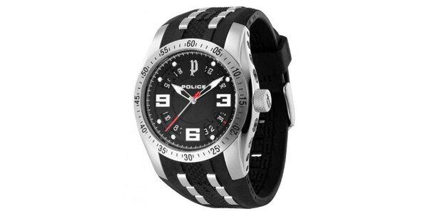 Pánské analogové hodinky s černým ciferníkem Police