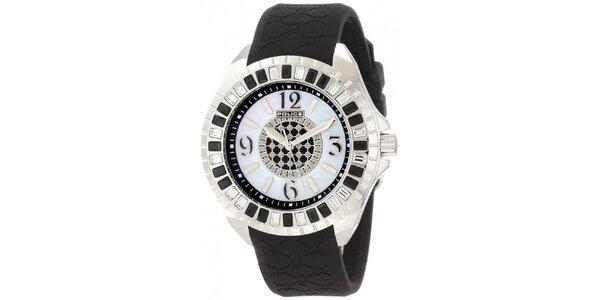 Dámské analogové hodinky s černým řemínkem Police