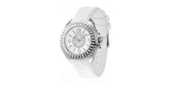 Dámské analogové hodinky s bílým řemínkem Police