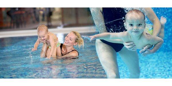 10 lekcí plavání dětí a miminek ve slané vodě