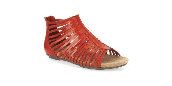 Dámské tmavě oranžové kotníkové sandálky Clarks
