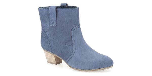 Dámské modré kotníkové boty Clarks