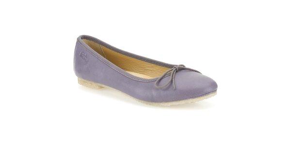 Dámské kožené fialkové baleríny Clarks