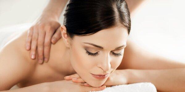 Masáž zad a šíje nebo končetin: 40-60 min. relaxu