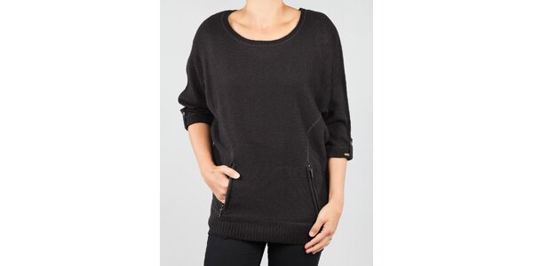 Dámský černý svetr Dex s kapsičkou