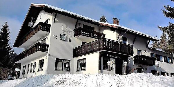 Bavorská strana Šumavy s polopenzí