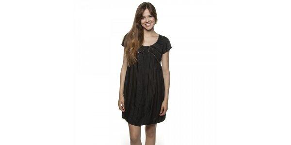 Dámské černé šaty Armand Basi s korálky