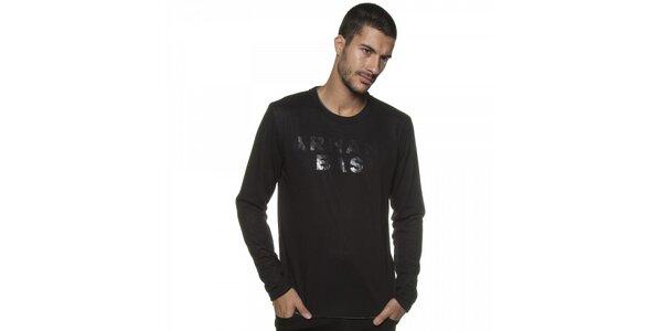 Pánský černý svetr Armand Basi