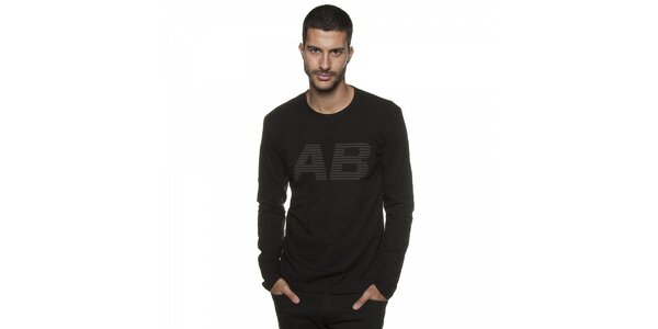 Pánské černé tričko Armand Basi s potiskem