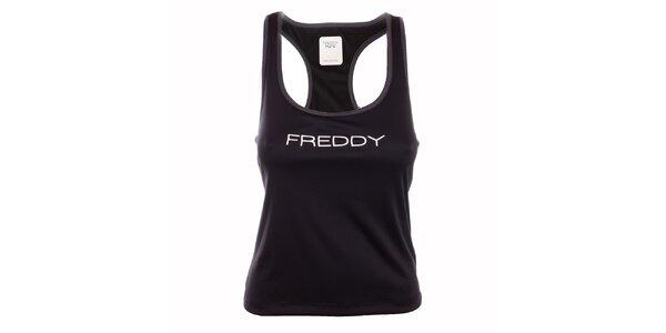 Dámské černé tílko s boxerskými ramínky Freddy