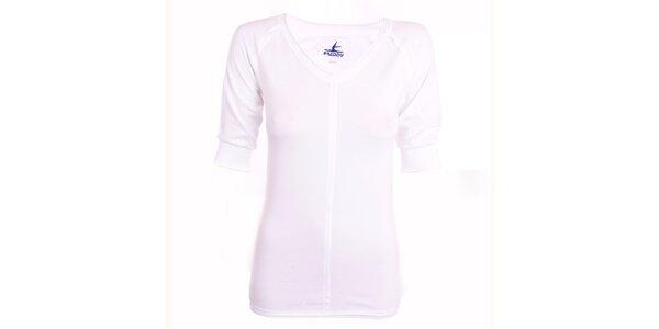 Dámské bílé tričko se 3/4 rukávy Freddy