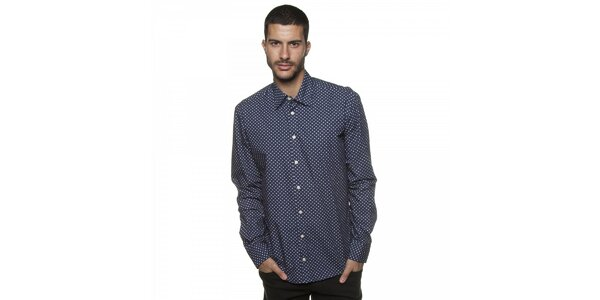 Pánská tmavě modrá košile Armand Basi s potiskem