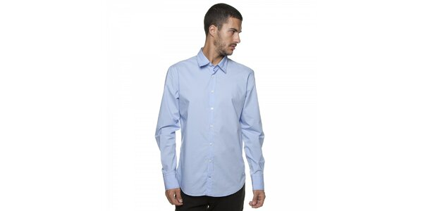 Pánská světle modrá košile Armand Basi s barevným prošíváním