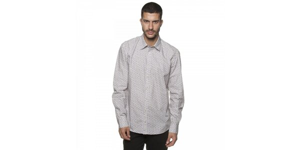 Pánská krémová košile Armand Basi s ornamentálním vzorem