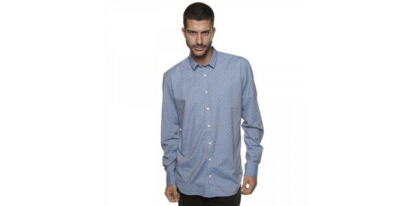 Pánská světle modrá košile Armand Basi s potiskem