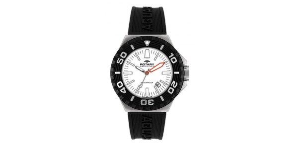 Pánské černé analogové hodinky Rotary