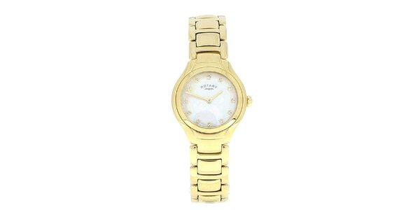 Dámské pozlacené kulaté analogové hodinky Rotary