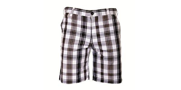 Pánské černobílé kostkované šortky Bendorff