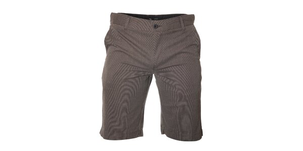 Pánské černobílé šortky Bendorff s pepito vzorem