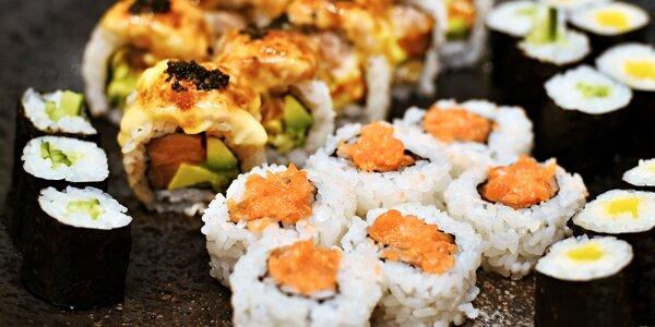 Sushi sety: 24–52 ks i s polévkami či salátem