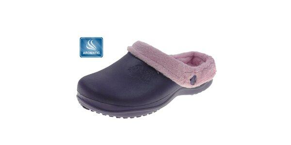 Dámské tmavě fialové pantofle Beppi s vnitřním kožíškem
