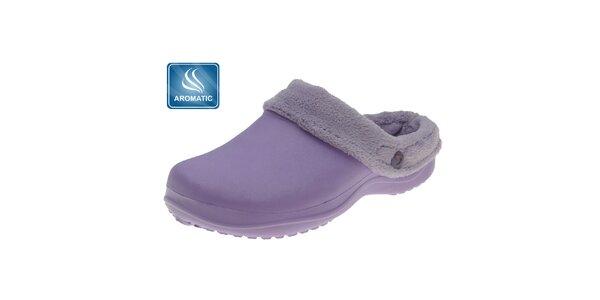 Dámské světle fialové pantofle Beppi s vnitřním kožíškem