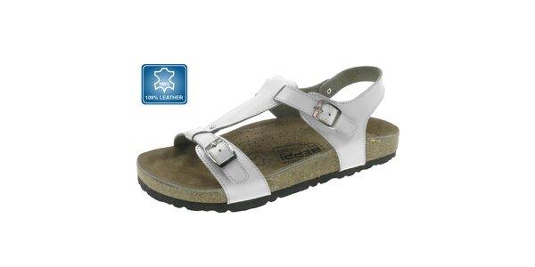 Dámské bílé kožené sandále Beppi