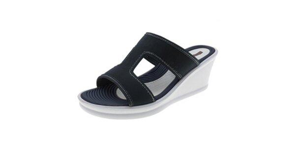 Dámské tmavě modré pantofle na klínku Beppi