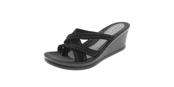 Dámské černé pantofle na klínku Beppi