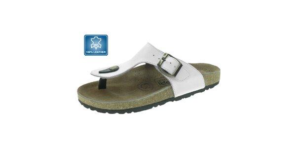 Dámské bílé kožené pantofle Beppi