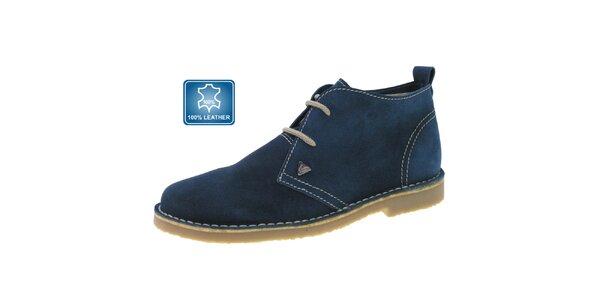 Dámské tmavě modré kožené kotníkové boty Beppi