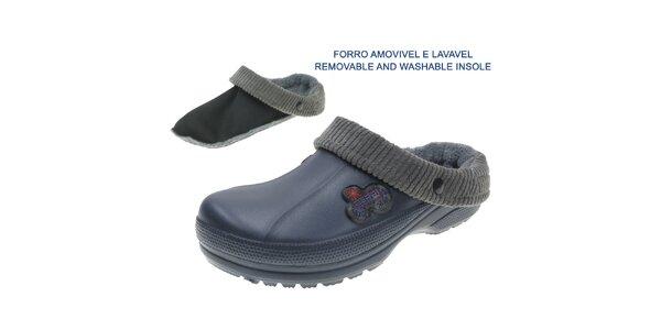 Pánské tmavě modré přezuvky s ponožkou Beppi