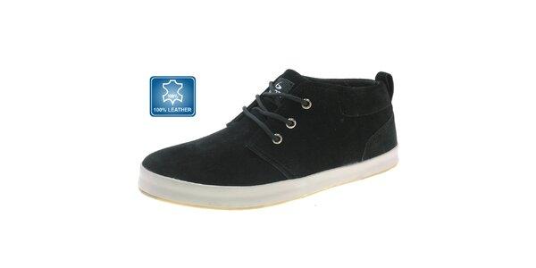 Pánské černé kožené boty Beppi