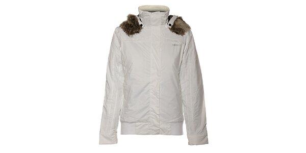 Dámská bílá bunda Loap s kožešinou