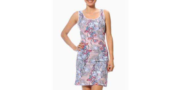 Dámské světle růžové šaty s pavími pery Smash