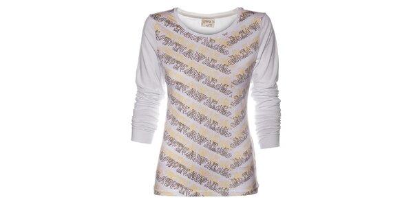 Dámské bílé tričko Loap s potiskem