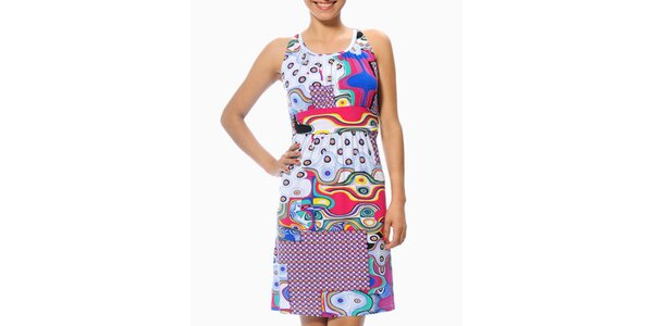 Dámské letní šaty s futuristickým vzorem Smash