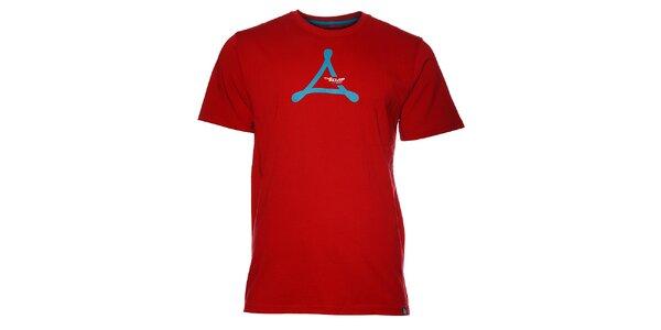 Pánské červené tričko Loap s potiskem