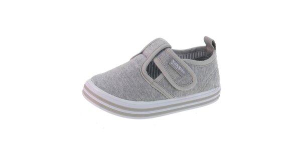 Šedé látkové dětské boty Beppi