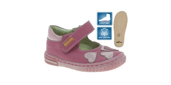 Dívčí kožené boty se srdíčky Beppi