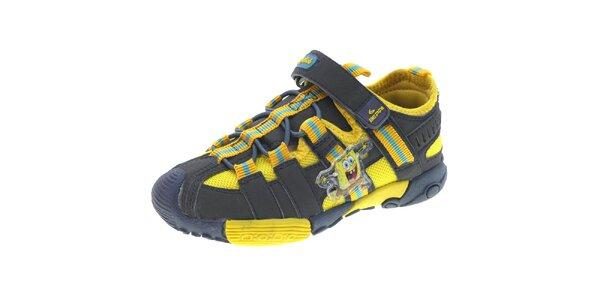 Dětské černo-žluté sportovní boty Beppi