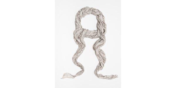 Dámský šedý šátek se vzorem Bella Rosa