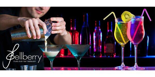 4 libovolné koktejly v novém klubu Bellberry